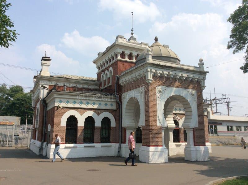 Estação de caminhos-de-ferro de Kalanchevskaya perto do quadrado de Komsomolskaya, Moscou fotos de stock royalty free