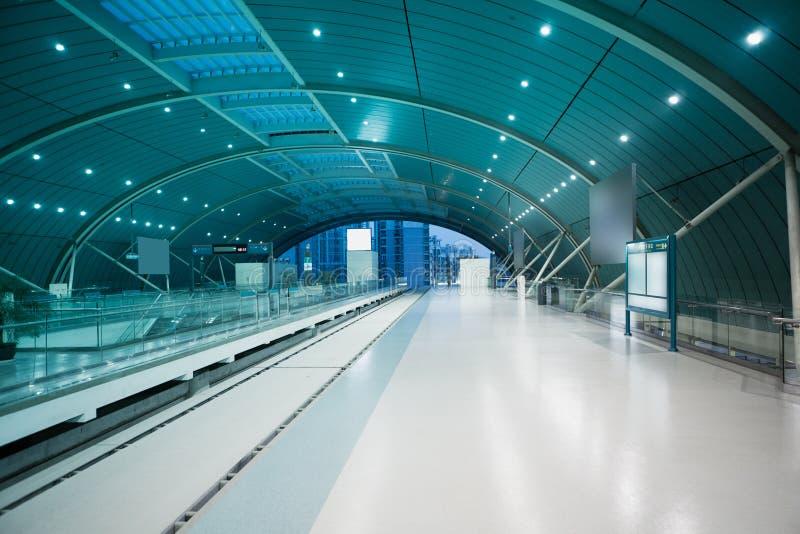 Estação de caminhos-de-ferro de Maglev foto de stock royalty free