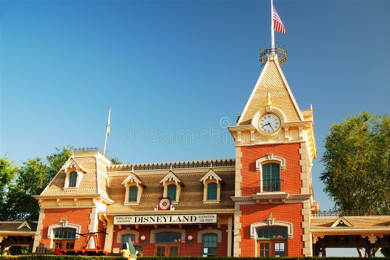 Estação de caminhos-de-ferro, Disneylândia foto de stock