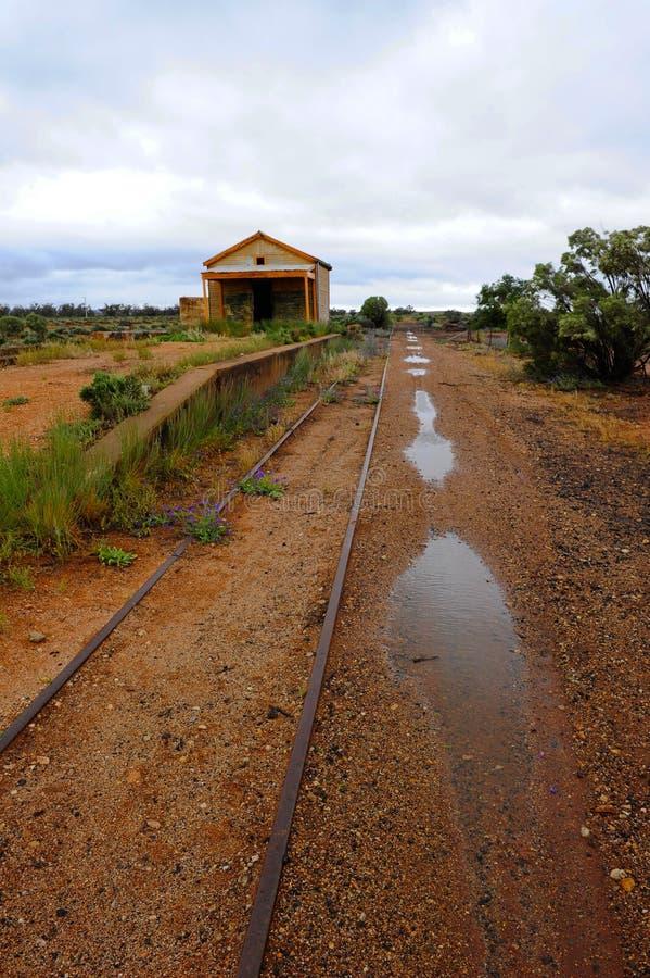 Estação de caminhos-de-ferro do interior imagens de stock