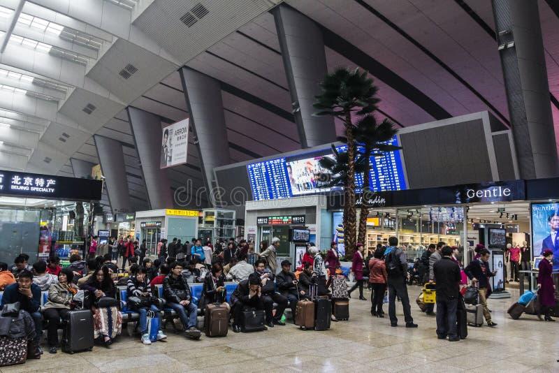 Estação de caminhos-de-ferro do Pequim imagem de stock
