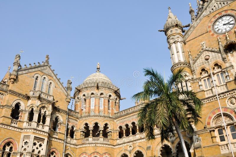 Estação de caminhos-de-ferro do término de Victoria, Mumbai (India) foto de stock