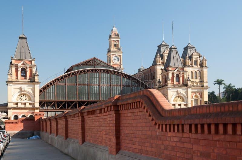 Estação de caminhos-de-ferro em Sao Paulo fotos de stock royalty free