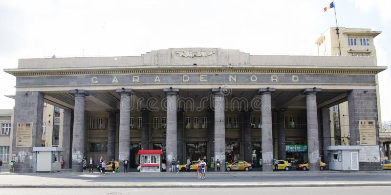 Estação de caminhos-de-ferro - Gara de Nord foto de stock