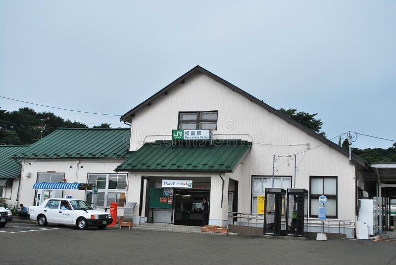Estação de caminhos-de-ferro original de Matsushima fotos de stock royalty free