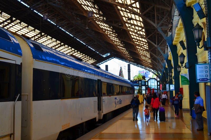 Estação de caminhos-de-ferro, Temuco, o Chile imagem de stock
