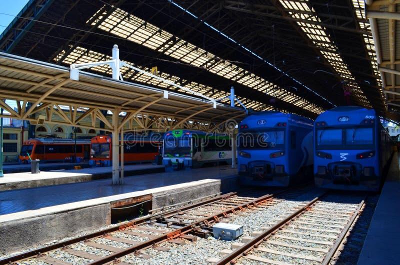 Estação de caminhos-de-ferro, Temuco, o Chile imagens de stock