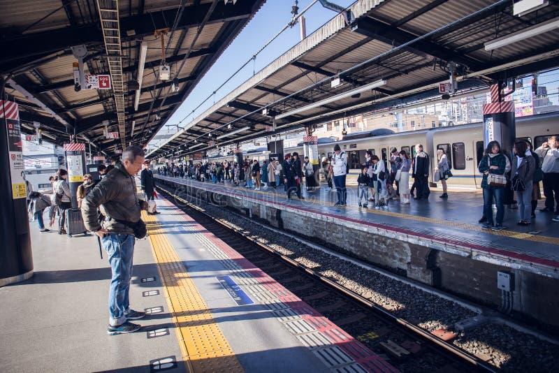 Estação de caminhos-de-ferro de Japão imagem de stock