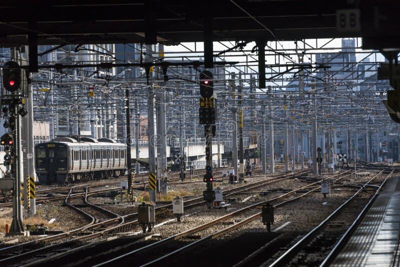 Estação de caminhos de ferro japonês Hakata em Fukuoka foto de stock royalty free
