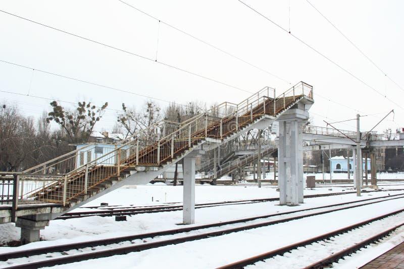Estação de caminhos-de-ferro Kyiv-Volinskyi na cidade de Kyiv imagem de stock royalty free