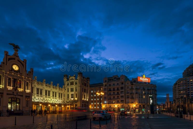 Estação de caminhos-de-ferro norte, Valência, Espanha foto de stock royalty free