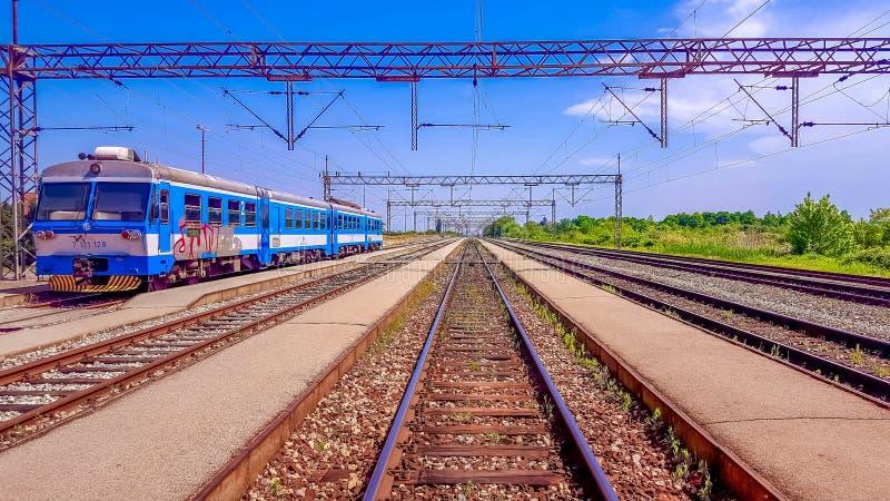 Estação de caminhos-de-ferro Nova Kapela imagem de stock