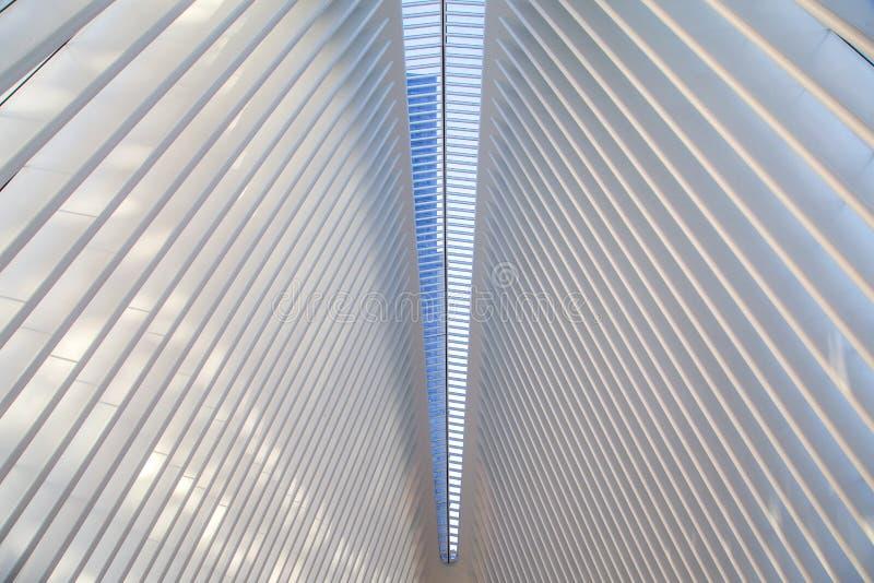 Estação de caminhos-de-ferro de Oculus em New York fotografia de stock