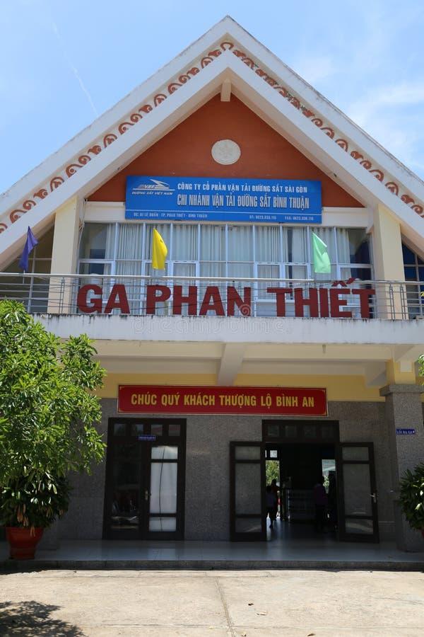 Estação de caminhos de ferro de Phan Thiet muito calmo imagem de stock