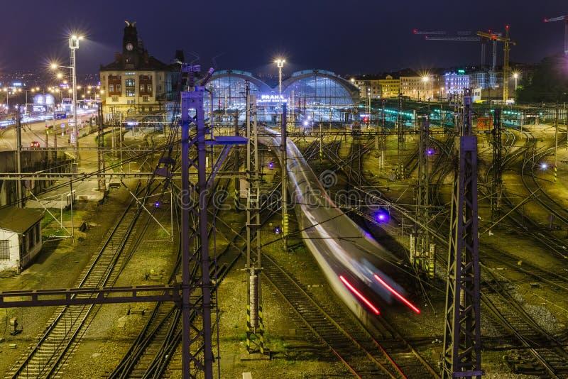 Estação de caminhos-de-ferro de Praga, República Checa imagens de stock royalty free