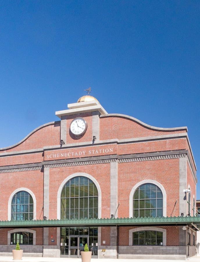 Estação de caminhos de ferro Schenectady New York de Amtrak imagem de stock royalty free