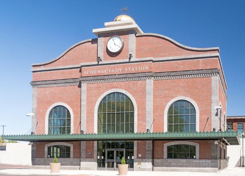 Estação de caminhos de ferro Schenectady New York de Amtrak imagens de stock
