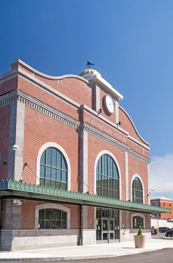 Estação de caminhos de ferro Schenectady New York de Amtrak fotos de stock
