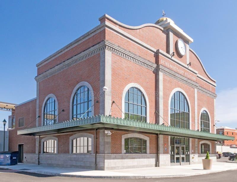 Estação de caminhos de ferro Schenectady New York de Amtrak foto de stock
