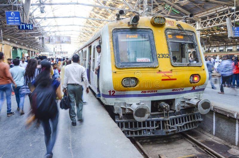 Estação de caminhos de ferro de Victoria, Mumbai, Índia foto de stock royalty free