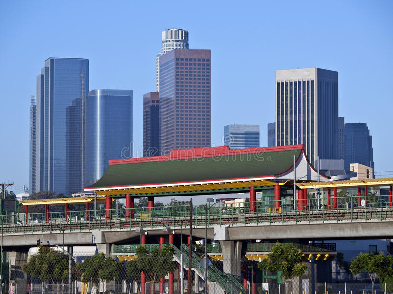 Estação de Chinatown em Los Angeles fotografia de stock