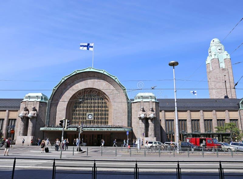 Estação de comboio da central de Helsínquia foto de stock