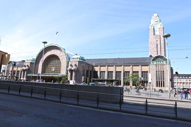 Estação de comboio da central de Helsínquia imagens de stock