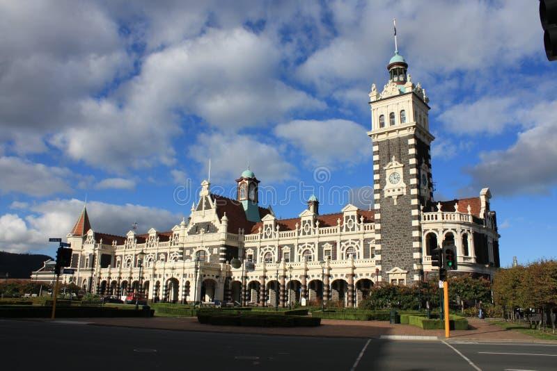 Estação de comboio de Dunedin foto de stock