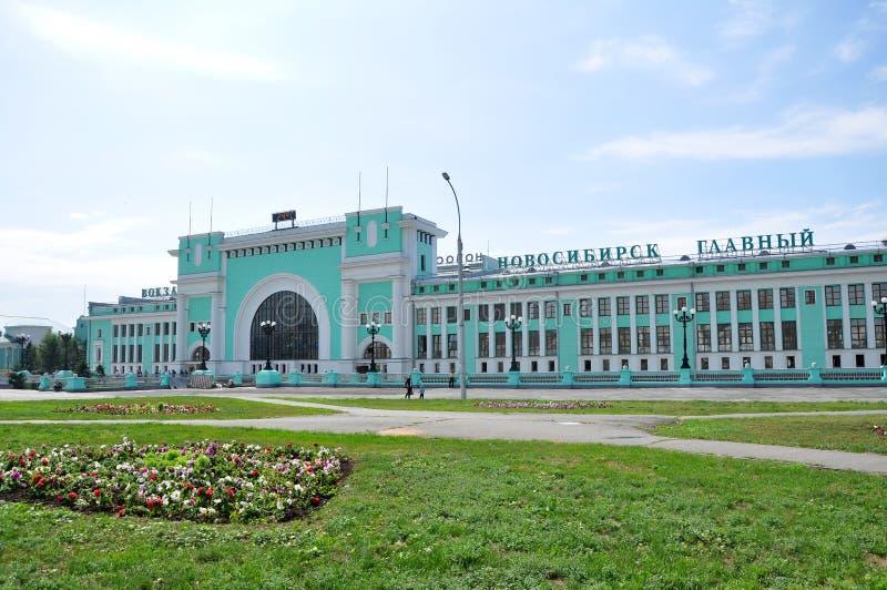 Estação de comboio de Novosibirsk fotos de stock