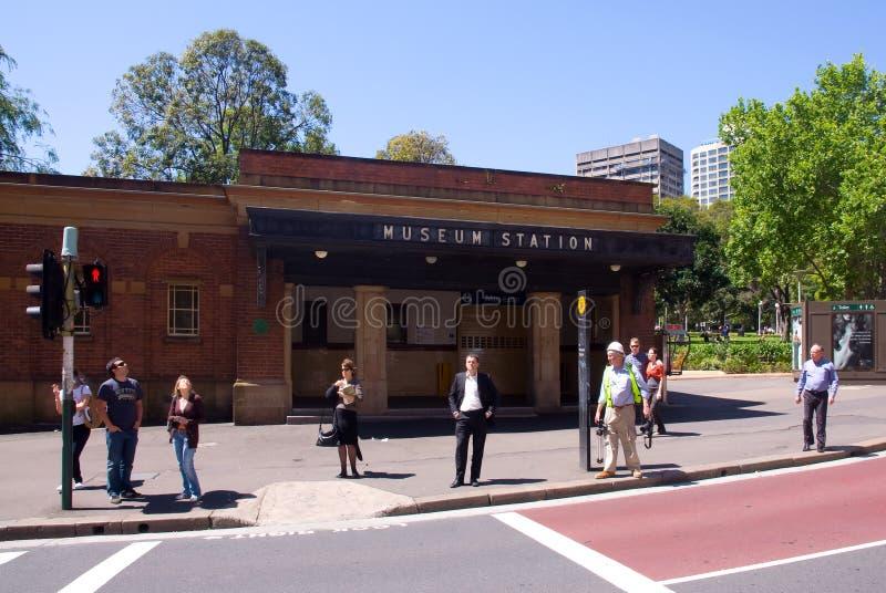 Estação de comboio Sydney do museu fotos de stock