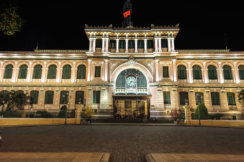 Estação de correios central de Saigon em Ho Chi Minh City, Vietname imagem de stock royalty free