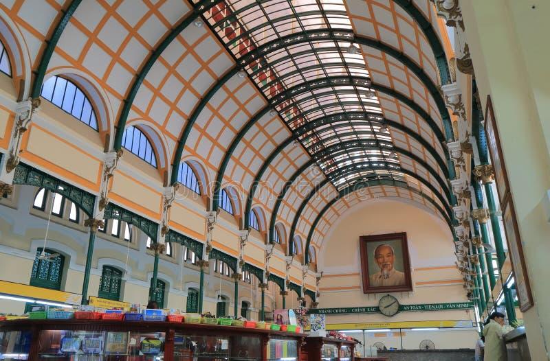 Estação de correios central Saigon Ho Chi Minh City Vietnam imagem de stock