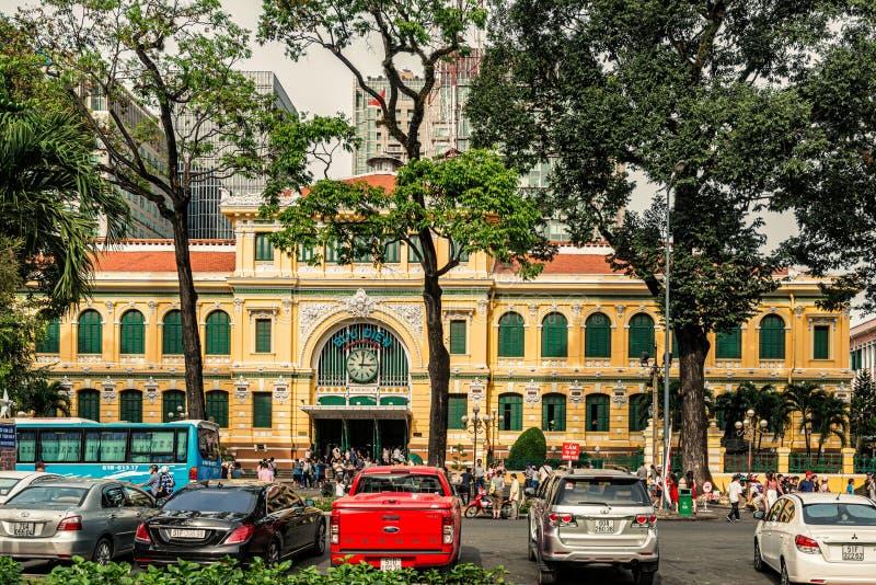 Estação de correios central de Saigon, Ho Chi Minh City, Vietname imagem de stock royalty free