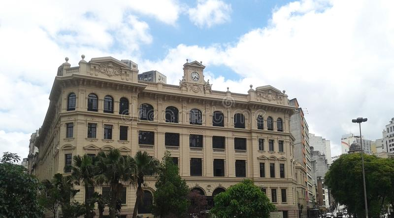 Estação de correios em Sao Paulo fotos de stock royalty free