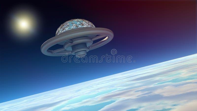Estação de espaço ilustração do vetor