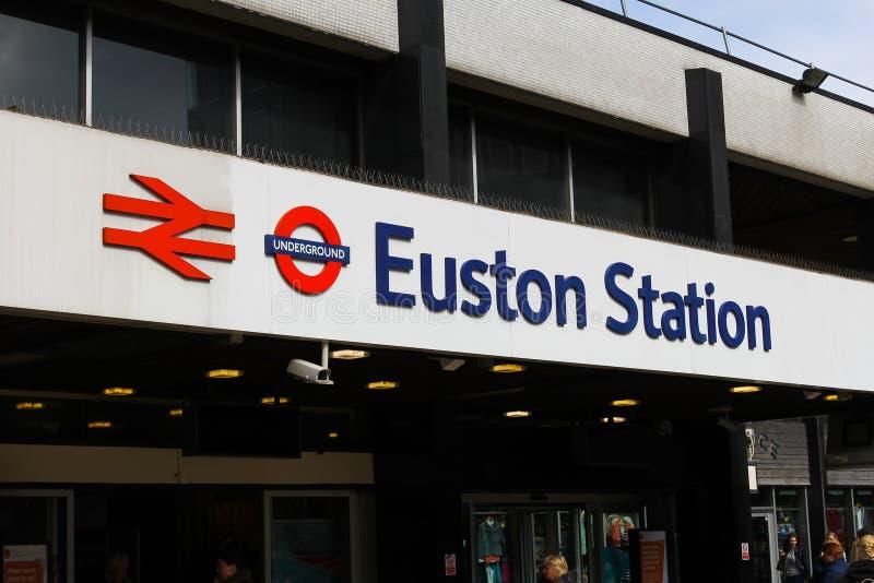 Estação de Euston imagens de stock royalty free