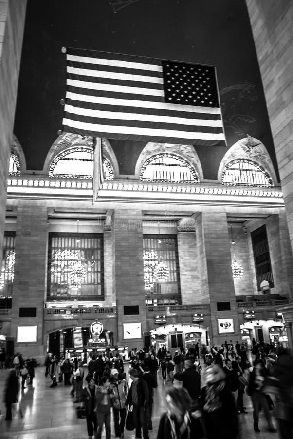 Estação de Grand Central em preto e branco fotos de stock royalty free