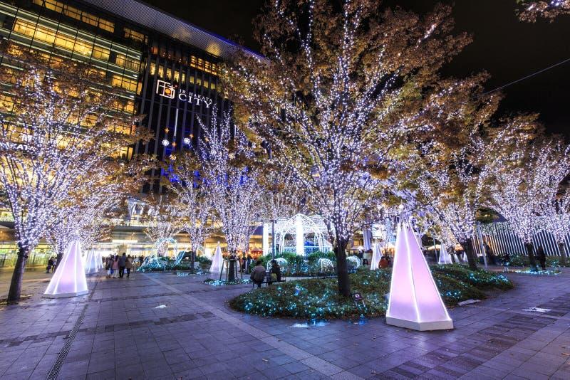 Estação de Hakata e de Hakata do JÚNIOR cidade fotos de stock royalty free