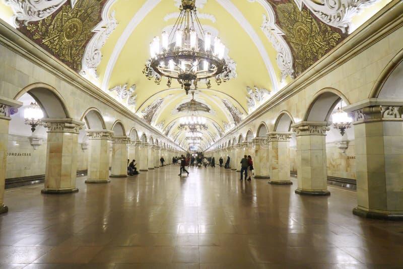 Estação de Komsomolskaya no metro foto de stock royalty free