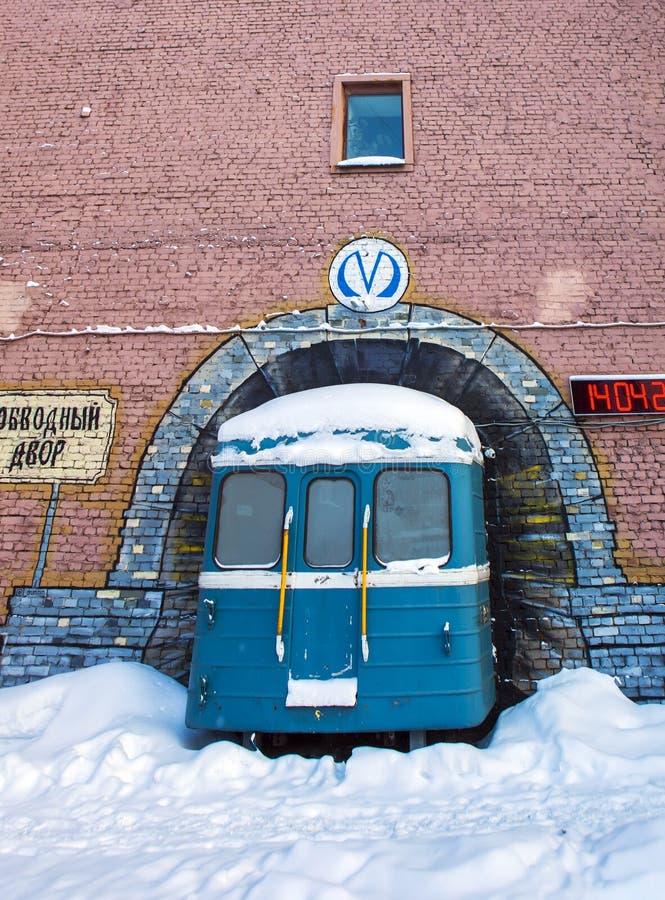 Estação de metro 'Obvodniy do objeto 'da arte Dvor ' St Petersburg Rússia imagem de stock