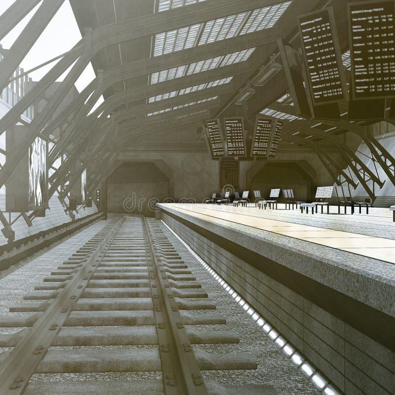 Estação de metro ilustração do vetor