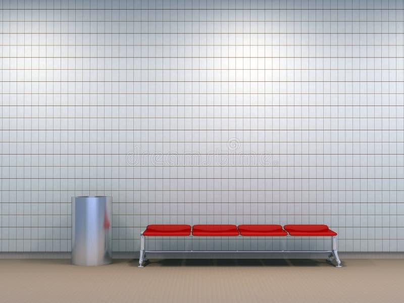 Estação de metro ilustração stock