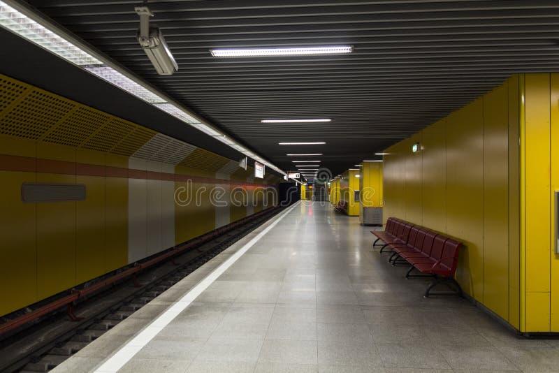 Estação de metro imagem de stock royalty free