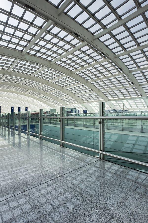 Estação de metro, aeroporto internacional principal do Pequim fotos de stock