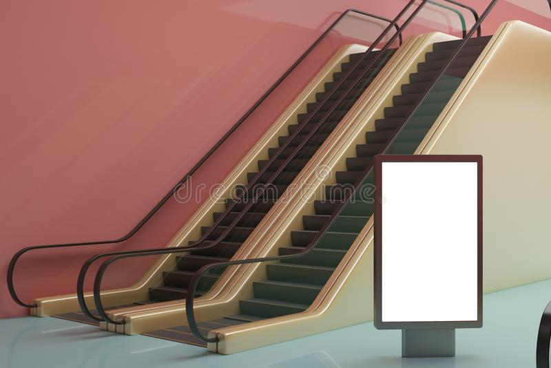 Estação de metro com bandeira ilustração stock