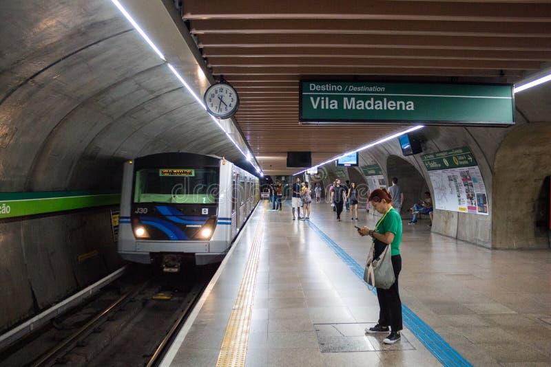 Estação de metro de Consolação, Sao Paulo, Brasil fotos de stock royalty free