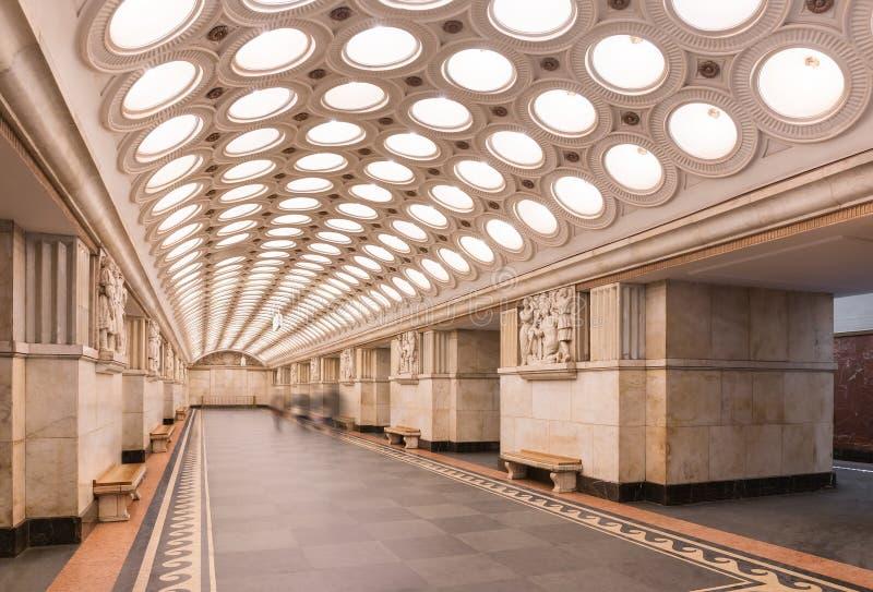 Estação de metro de Elektrozavodskaya foto de stock royalty free