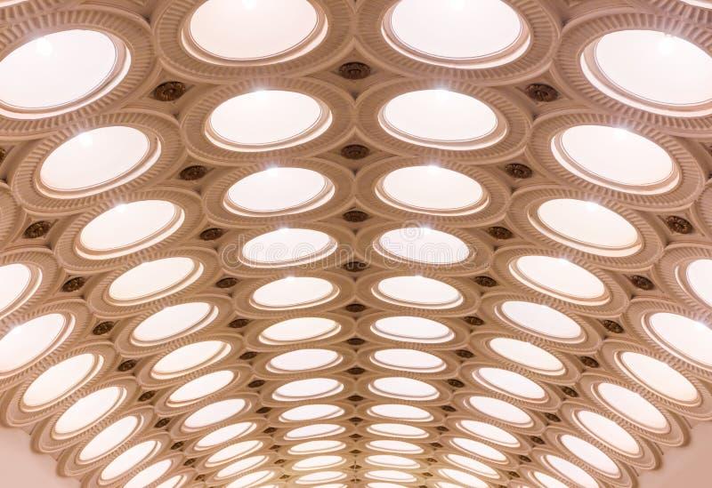 Estação de metro de Elektrozavodskaya fotografia de stock