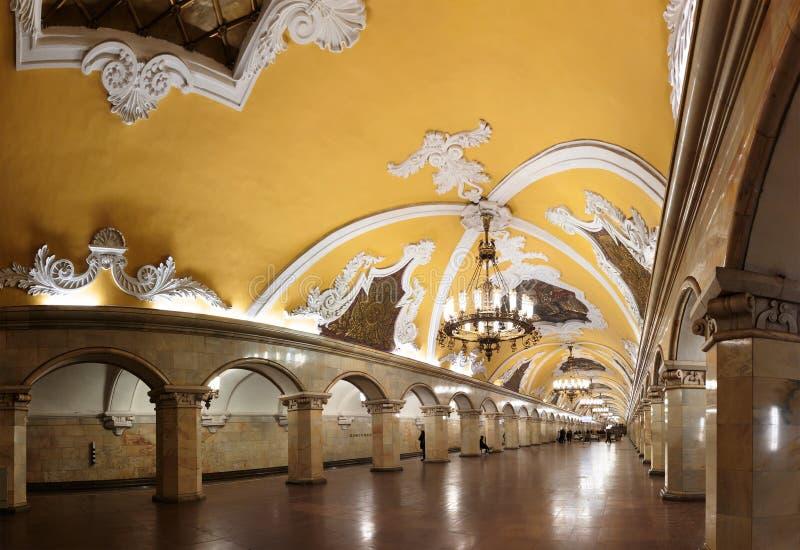 Estação de metro de Komsomolskaya fotos de stock royalty free