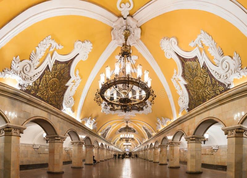 Estação de metro de Komsomolskaya fotografia de stock royalty free